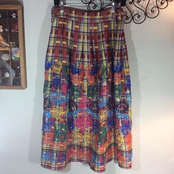 Zara Dresses & Skirts - Zara Embroidered 🌈 rainbow Maxi Skirt